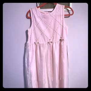 Pink girls dress sz 16 1/2